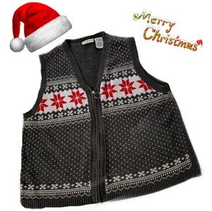 WHITE STAG CHRISTMAS VEST FOR WOMEN'S SIZE 14